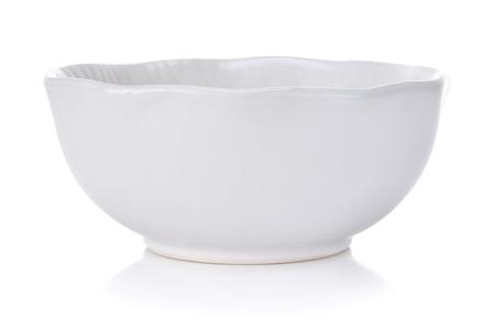 White bowl isolated on white background Stock Photo