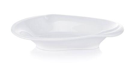 white ceramics plate isolated on white background