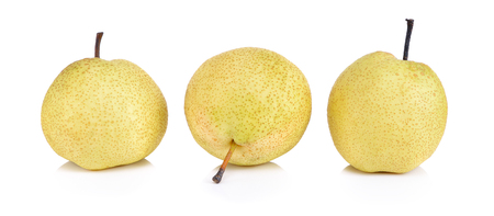 Sweet Chinese pear on white background