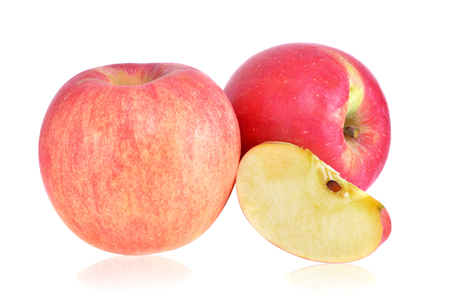 Fresh fuji Apple on white background