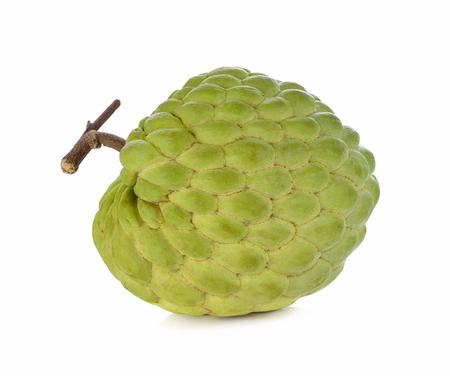 fresh custard apple on white background