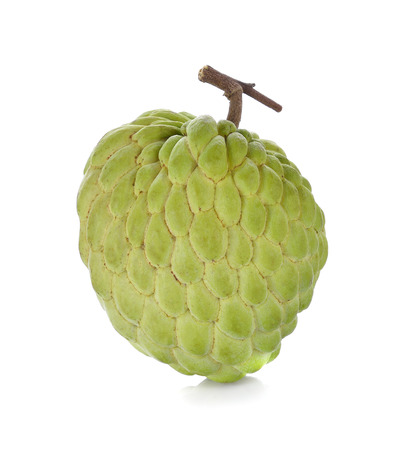 fresh custard apple on white background Stock Photo