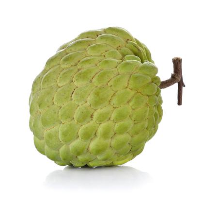 fresh custard apple on white background Stockfoto