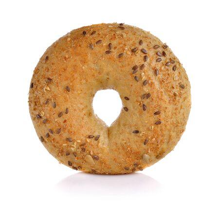 Wholewheat bagels on white background Stockfoto
