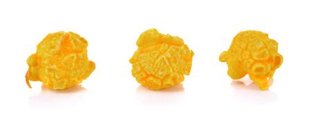 Cheese Popcorn on white background