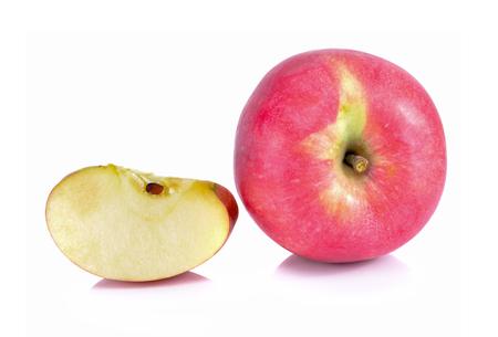Fresh fuji Apple on white background