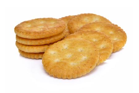 Wheat cracker on white background