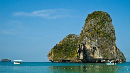rai lay beach , south of thailand Stock Photo