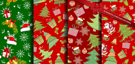 wrappers: Set christmas patterns seamless vectors