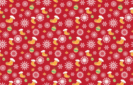 Christmas patterns red seamless backgrounds vectors Illustration