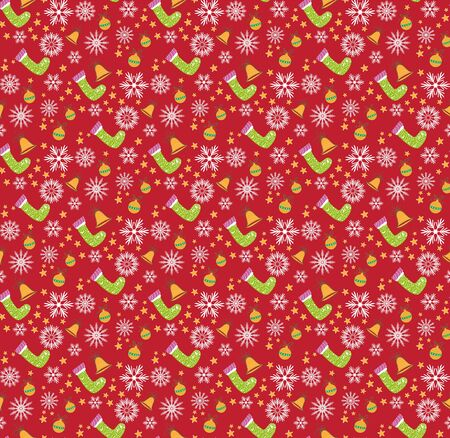 Christmas pattern red seamless backgrounds Illustration
