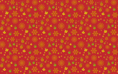 Seamless Christmas pattern. Tile vector background. Botanical winter wallpaper. Wrapping paper texture. Illustration