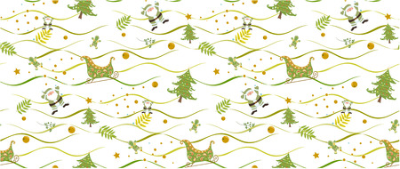 christmas pattern seamless on white background vectors illustrator. Illustration