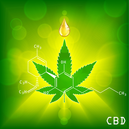 Marijuana concept and cannabis oil and legislation social issue as medical and recreational weed usage on background symbols in a 3D illustration style. Illustration