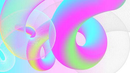 Modern line stroke design vector illustration. Cool gradient shapes composition backgrounds. Stock Illustratie