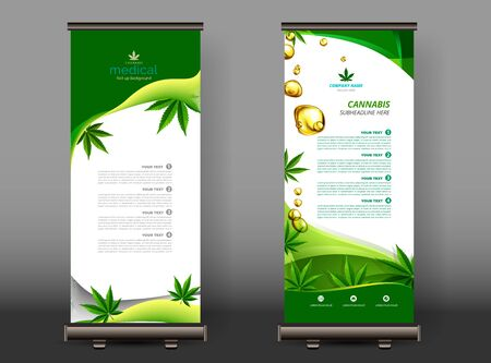 Cannabis or marijuana medical roll up design. vector illustration. Illustration
