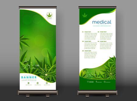 Cannabis or marijauna medical roll up design. vector illustration. Stock Illustratie