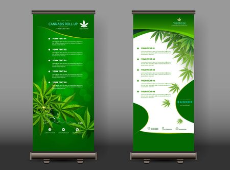 Cannabis or marijuana medical roll up design. vector illustration. Stock Illustratie