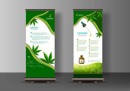 Marijuana concept and cannabis oil and legislation social issue as medical uses and recreational weed usage on background symbols in a 3D illustration style.