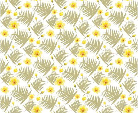 Spring green leaves seamless pattern backgrounds. vector Illustrator design.