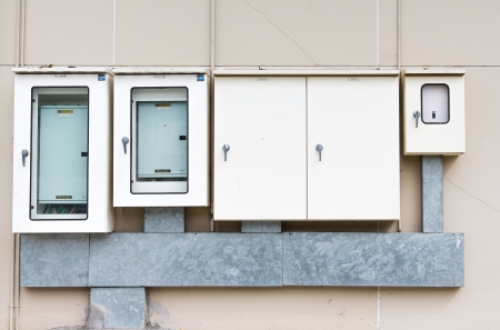 the electric box on the wal Stock Photo - 22735417