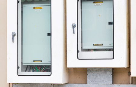 the electric box on the wal Stock Photo - 22994922