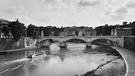 monocrome: the canal in Rome with monocrome style
