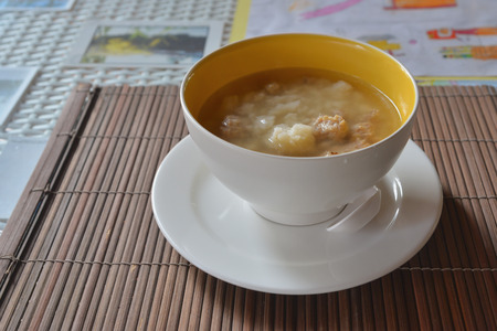 warm water fish: soft-boiled rice (focus meat)