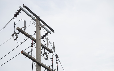 electric line: electric pole and electric line