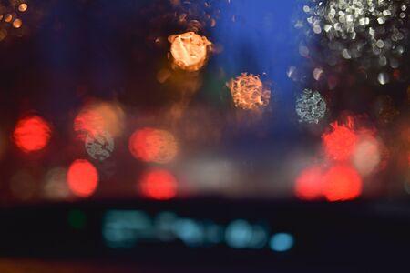 kropla deszczu: bokeh background and raindrop