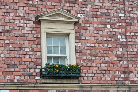 old english: window of old english house