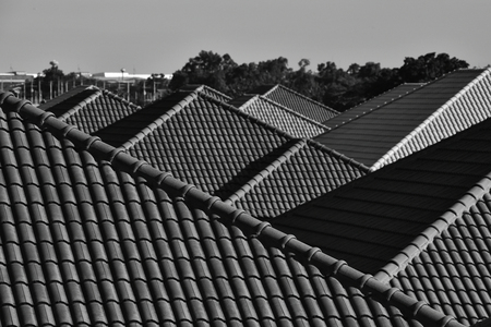 roof of europe house Stock Photo