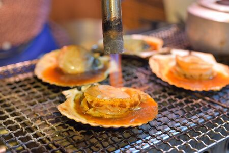 petoncle: grilled japanese scallop Banque d'images