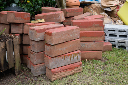 garden tool, old brick