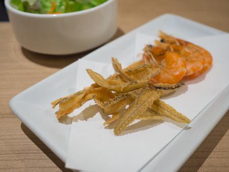 crispy fish, japanese snack