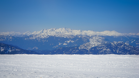 View on mountains and blue sky, Whistler, Canada