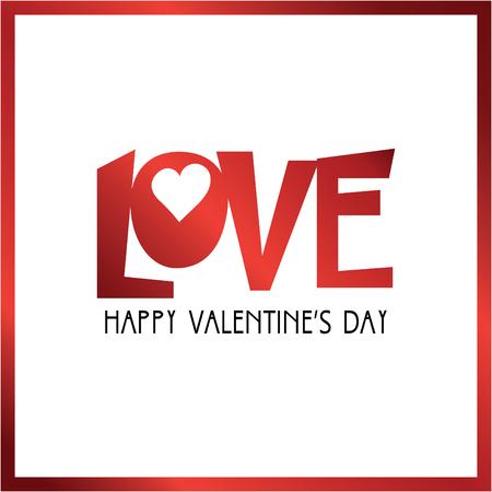 happy valentines day greeting card vector illustration. Illustration