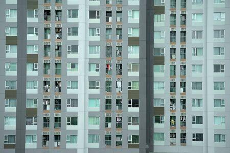 Windows of apartmens in thailand.