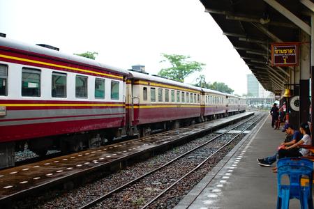 Bangkok, Thailand - 22 may, 2017 : Thonburi train station, formerly known as the Bangkok Noi railway station. soft focus, retro vintage style.
