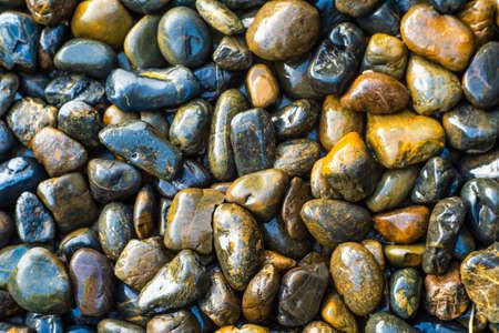 Stone texture photos,black stone floor in the garden