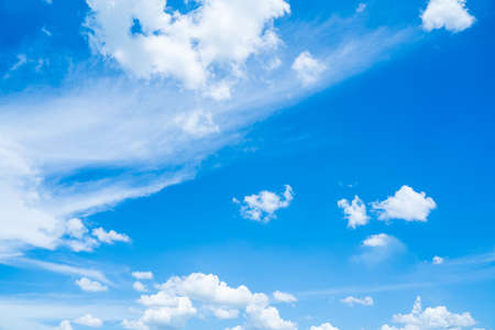 Blue sky with white clouds.on a clear day