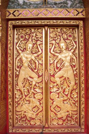 door gold thailand art