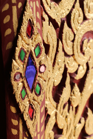 Wall sculpture in Thai temple