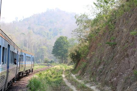 Thai train Diesel rail in Thailand