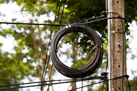 Fiber optic on the pole.