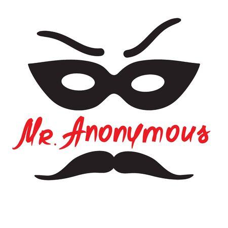 Mister Anonymous - drawing of a stranger in a mask. Illusztráció