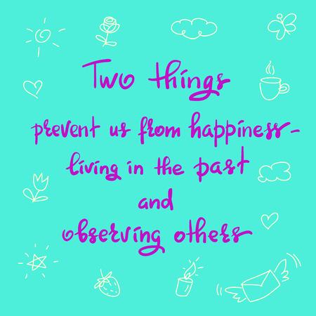 Handwritten motivational quote template