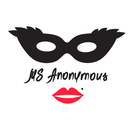 Ms Anonymous - drawing of an unknown woman. Print for poster, cups, t-shirt, bag,  greeting postcard, flyer, sticker, sweatshirt, leaflet, invitation to the mafia game. Simple funny vector Stock Illustratie