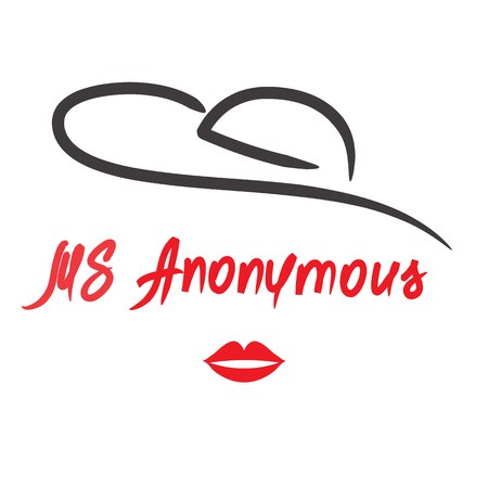 Ms Anonymous - drawing of an unknown woman. Print for poster, cups, t-shirt, bag,   greeting postcard, flyer, sticker, sweatshirt, leaflet, invitation to the mafia game. Simple funny vector