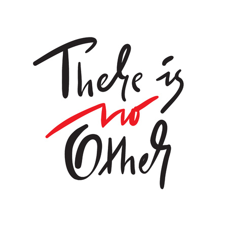 There is no other - a simple inspire and motivational quote. Hand drawn beautiful lettering. Print for inspirational poster, t-shirt, bag, cups, card, flyer, sticker, badge. Elegant calligraphy sign